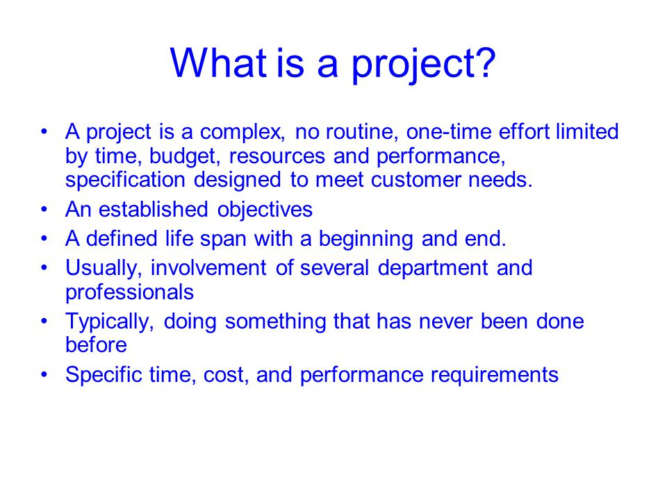 The project Manager Plan, schedule, motivate, and control Creating project team Direction, coordination, and integration to the project team Contract vendor, supplier, subcontracts trade-off between cost, time, and performance