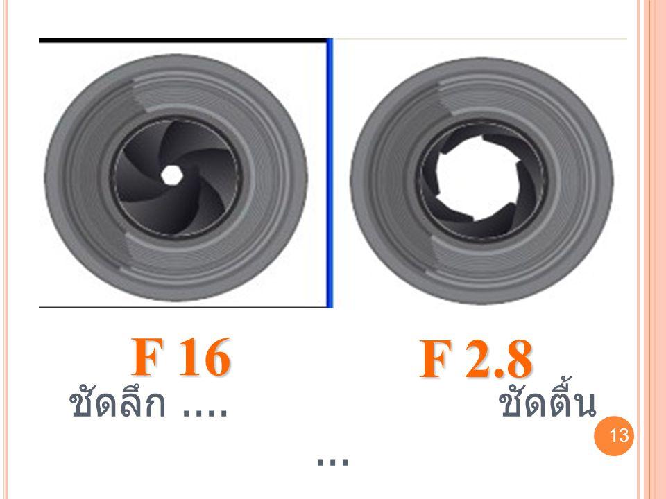 13 F 16 F 2.8 ชัดลึก.... ชัดตื้น... 13