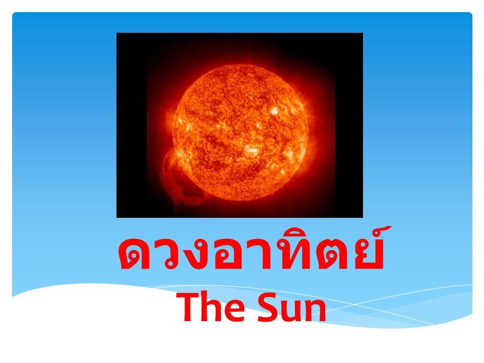บรรยากาศของดวง อาทิตย์ ดวงอาทิตย์มีชั้นบรรยากาศเช่นเดียวกับโลก แต่ องค์ประกอบและลักษณะทางกายภาพของระบบทั้งสอง แตกต่างกันมาก ชั้นบรรยากาศเริ่มต้นเหนือผิวของดวง อาทิตย์ โดยเป็นส่วนที่มีความหนาแน่นมากที่สุดและ ค่อยๆ เบาบางลงมาเมื่อห่างออกไปเรื่อยๆ ชั้นบรรยากาศ ชั้นนอกของดวงอาทิตย์กินบริเวณกว้างมากกว่า 1.5 เท่า ของรัศมีดวงอาทิตย์ ในขณะที่บรรยากาศของโลกมีความ หนาเพียงประมาณ 0.003 เท่าของรัศมีโลกเท่านั้น