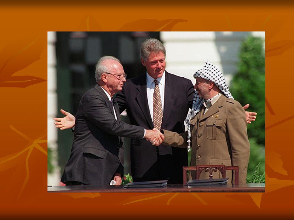 นายกรัฐมนตรีเอฮุด โอลเมิร์ตของ อิสราเอล ประธานาธิบดีจอร์จ ดับเบิลยู บุช และประธานาธิบดีมาห์มูด อับบาสข องปาเลสไตน์