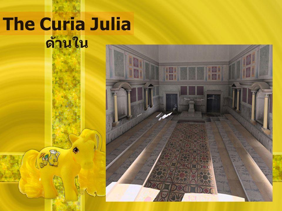 The Curia Julia ด้านใน