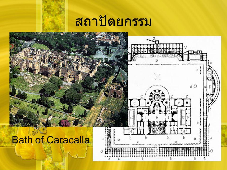 สถาปัตยกรรม Bath of Caracalla