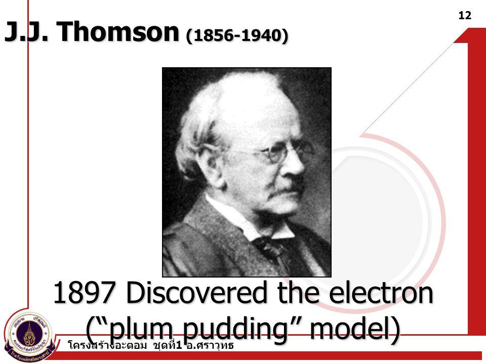 โครงสร้างอะตอม ชุดที่ 1 อ. ศราวุทธ 11