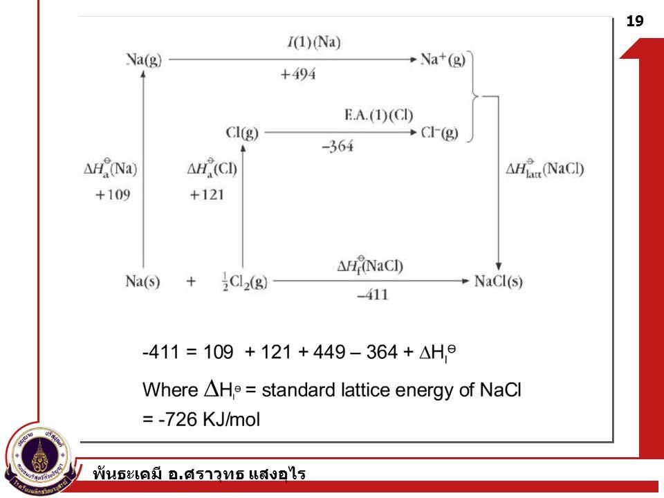 พันธะเคมี อ. ศราวุทธ แสงอุไร 19