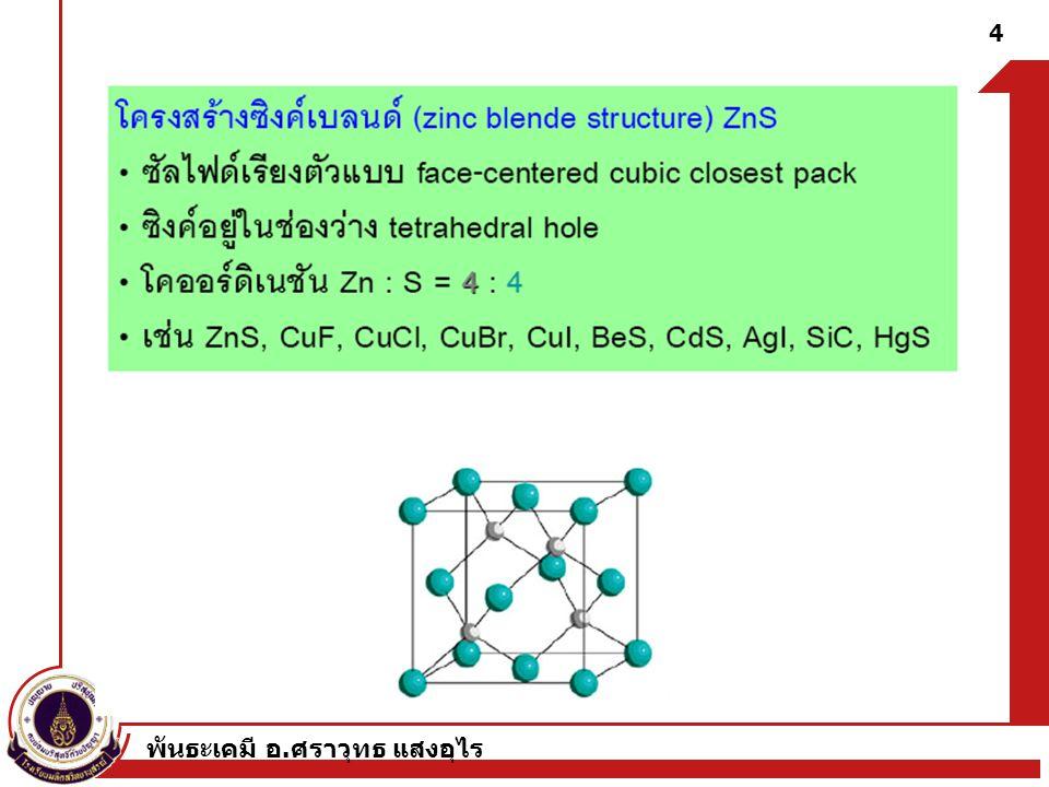 พันธะเคมี อ.ศราวุทธ แสงอุไร 35 Reaction Types A.
