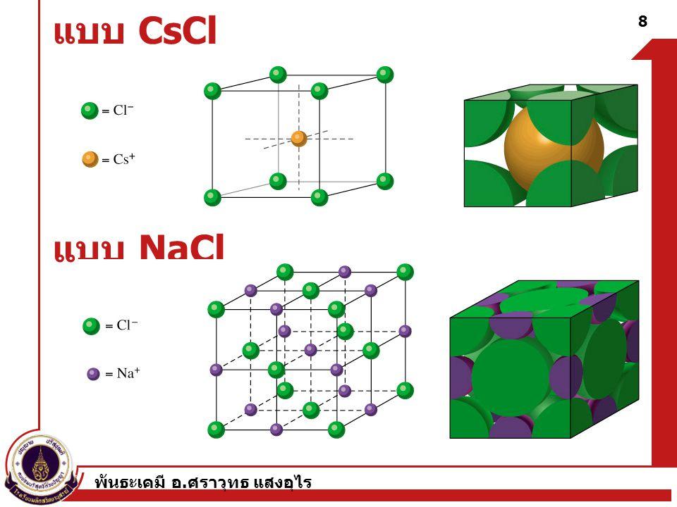 พันธะเคมี อ. ศราวุทธ แสงอุไร 29 Water Molecules Surround Ions Properties of Molecules
