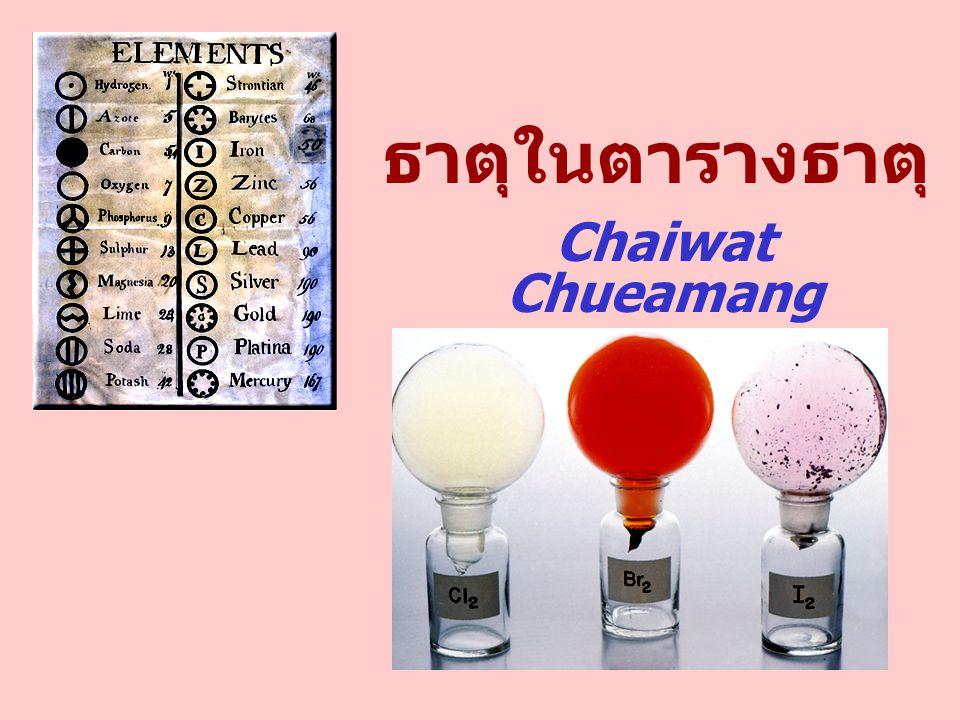 ธาตุในตารางธาตุ Chaiwat Chueamang