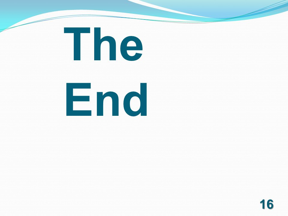 The End 16