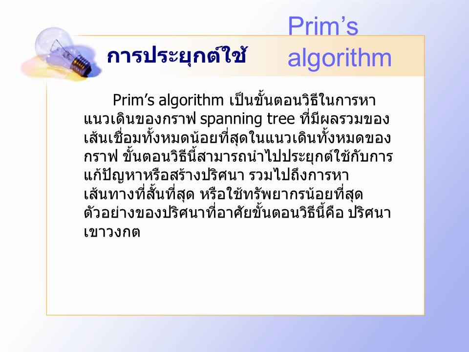 ขั้นตอนวิธี Prim's algorithm