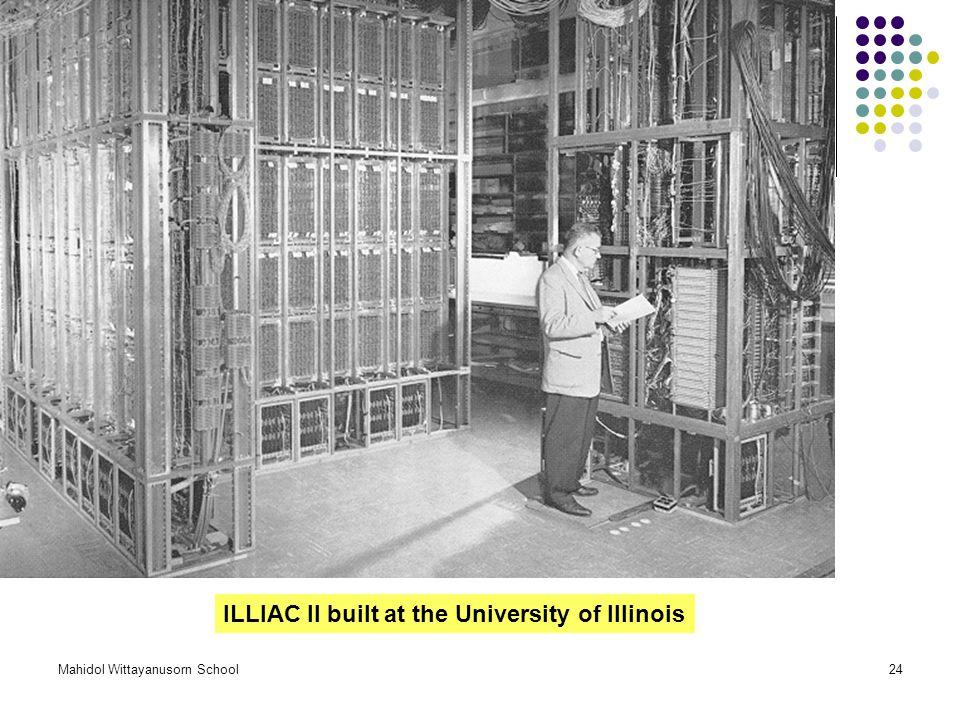 Mahidol Wittayanusorn School24 ILLIAC II built at the University of Illinois