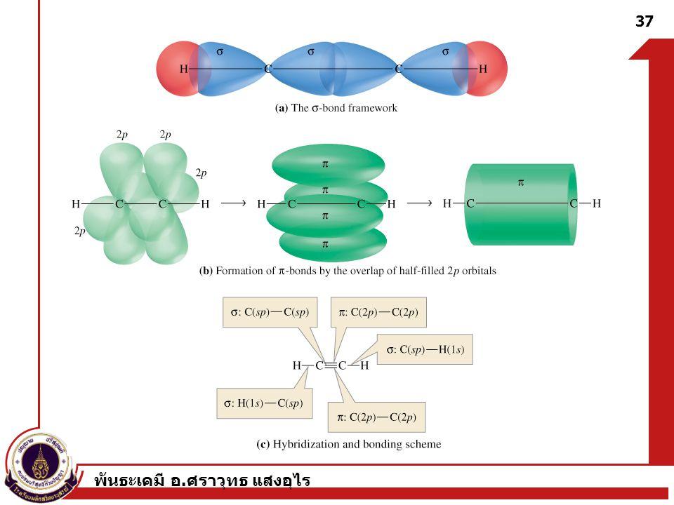 พันธะเคมี อ. ศราวุทธ แสงอุไร 37