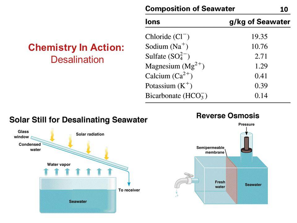 Colligative properties ผู้สอน : อ. ศราวุทธ แสงอุไร Chemistry In Action: Desalination 10