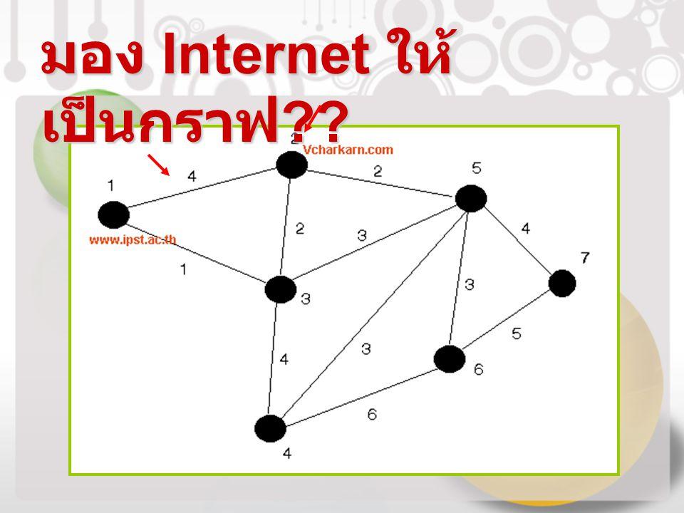 มอง Internet ให้ เป็นกราฟ ??