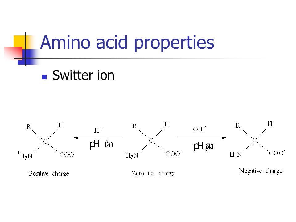 Amino acid properties Switter ion