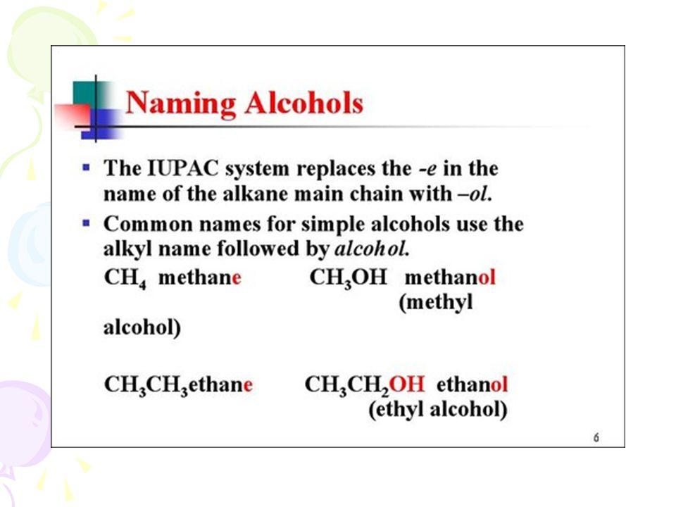 Physical Properties of Alcohols จุดเดือดของ แอลกอฮอล์