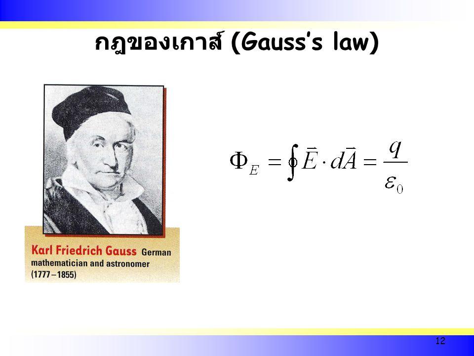12 กฎของเกาส์ (Gauss's law)