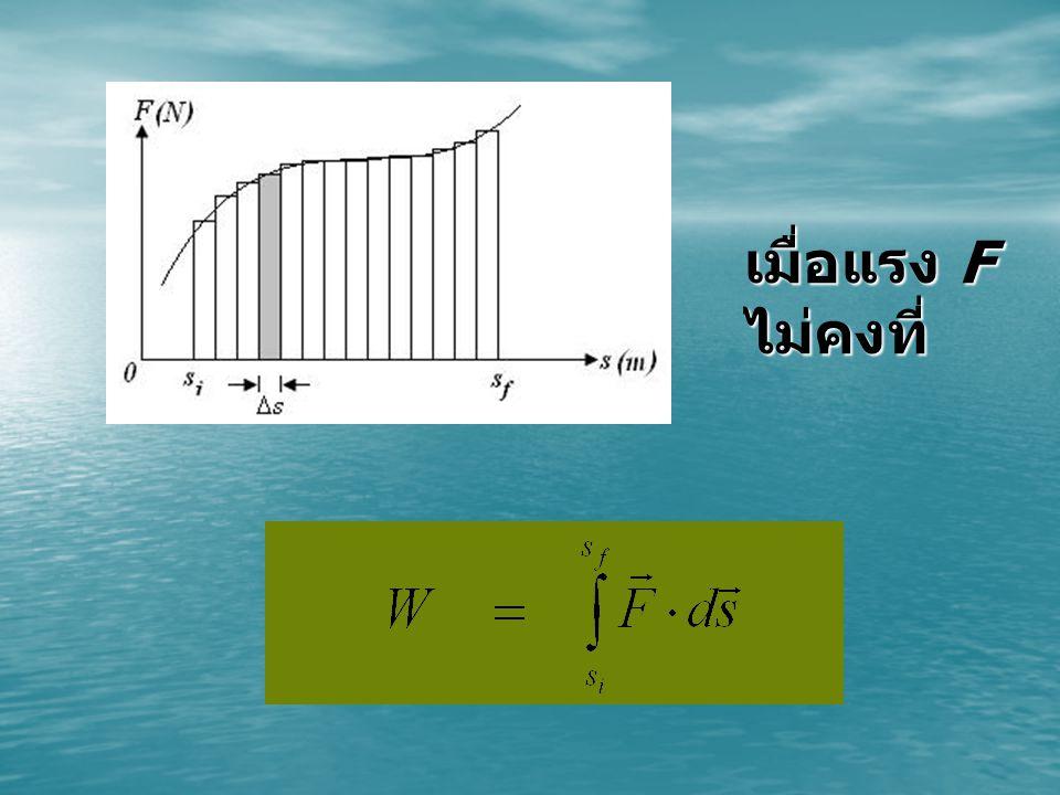 พลังงานศักย์ ( Potential energy) คือพลังงานเนื่องจากแรงอนุรักษ์