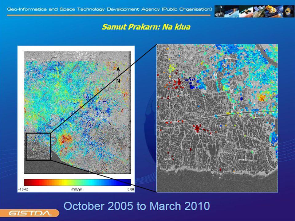 การทรุดตัวของชั้นหินในประเทศไทย From cGPS data Phuket Chumporn Sattahip