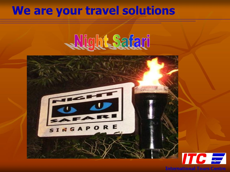 We are your travel solutions International Tours Centre 17