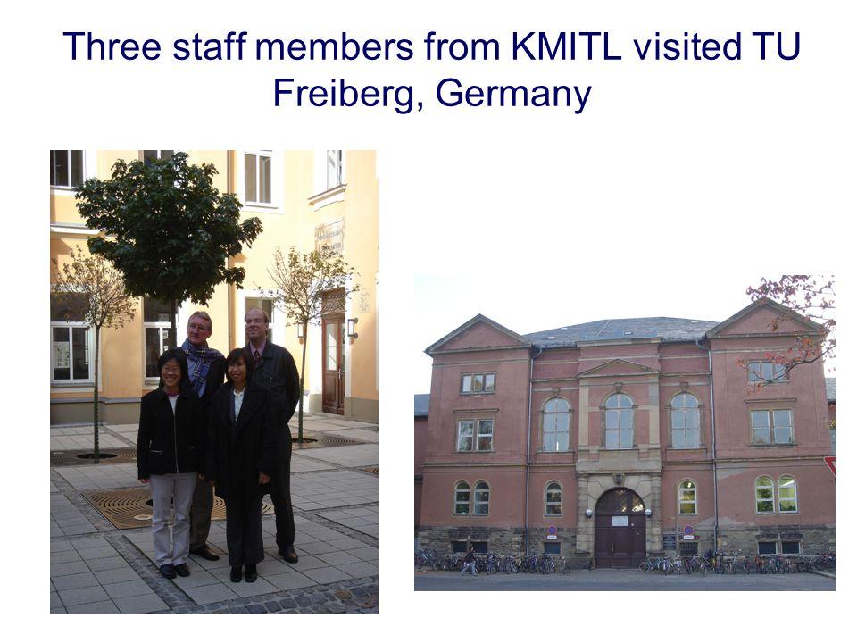 Three staff members from KMITL visited TU Freiberg, Germany