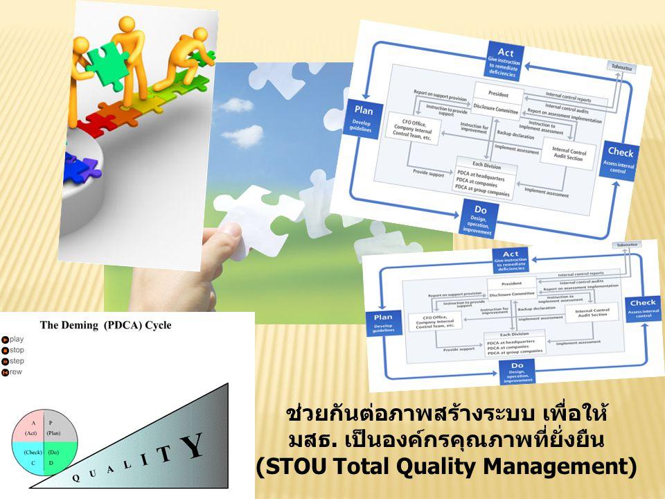 ช่วยกันต่อภาพสร้างระบบ เพื่อให้ มสธ. เป็นองค์กรคุณภาพที่ยั่งยืน (STOU Total Quality Management)