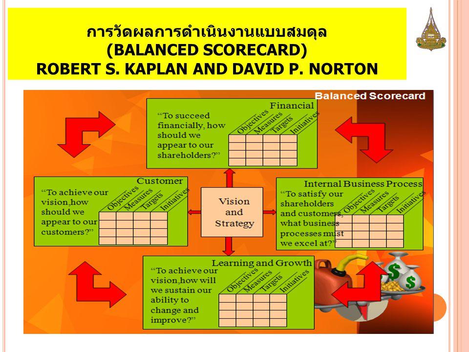 การวัดผลการดำเนินงานแบบสมดุล (BALANCED SCORECARD) ROBERT S. KAPLAN AND DAVID P. NORTON