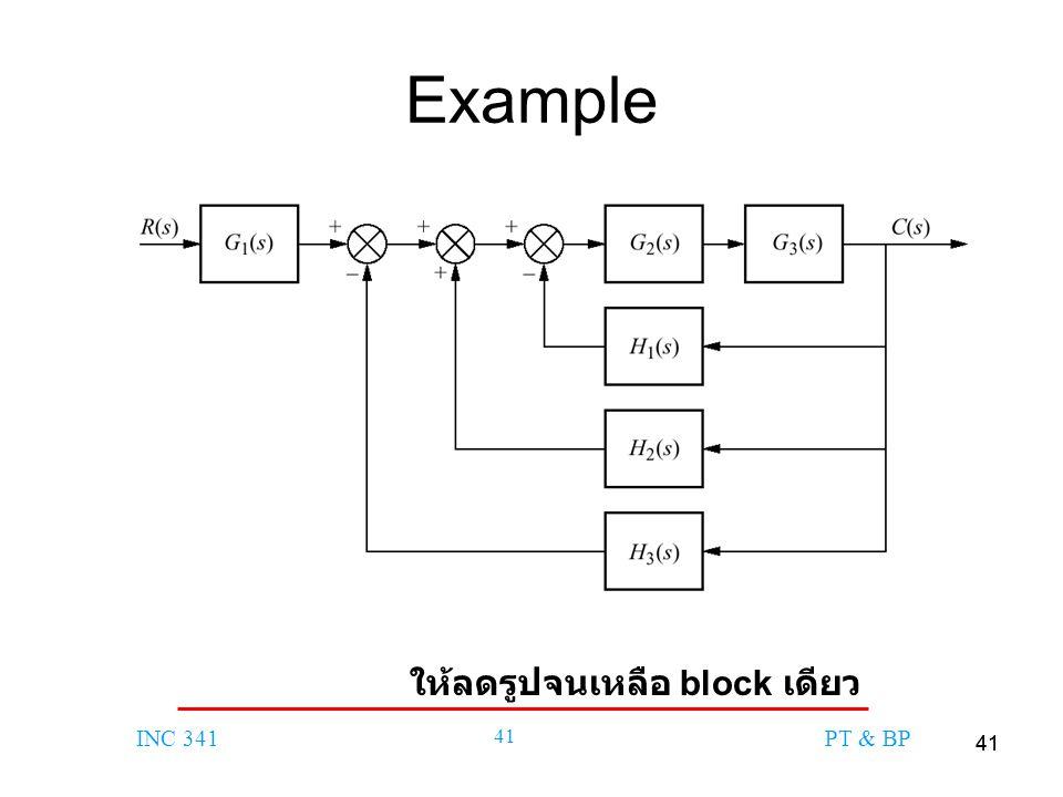 41 INC 341 41 PT & BP Example ให้ลดรูปจนเหลือ block เดียว