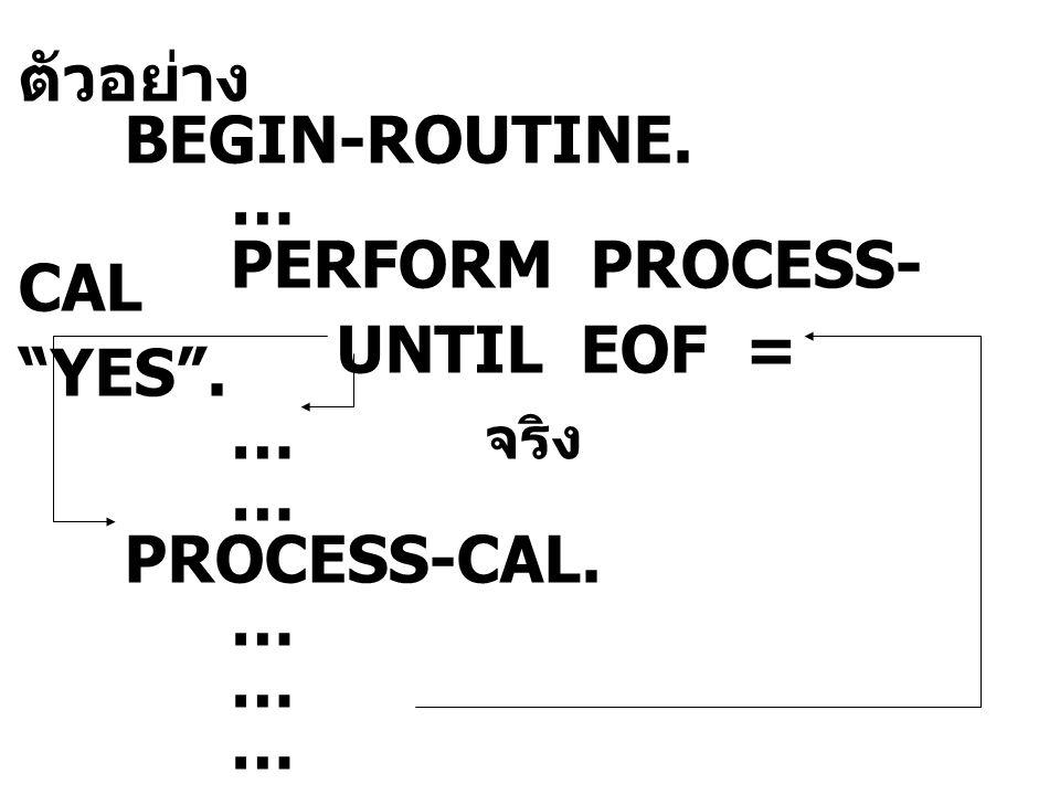 Table Handling การสร้างตารางด้วย OCCURS clause รูปแบบ … … OCCURS integer TIMES ตาราง 1 มิติ 01 TABLE-1.
