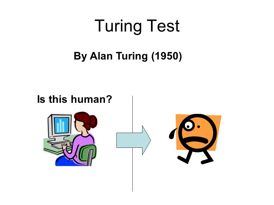 Turing Test By Alan Turing (1950) Is this human?