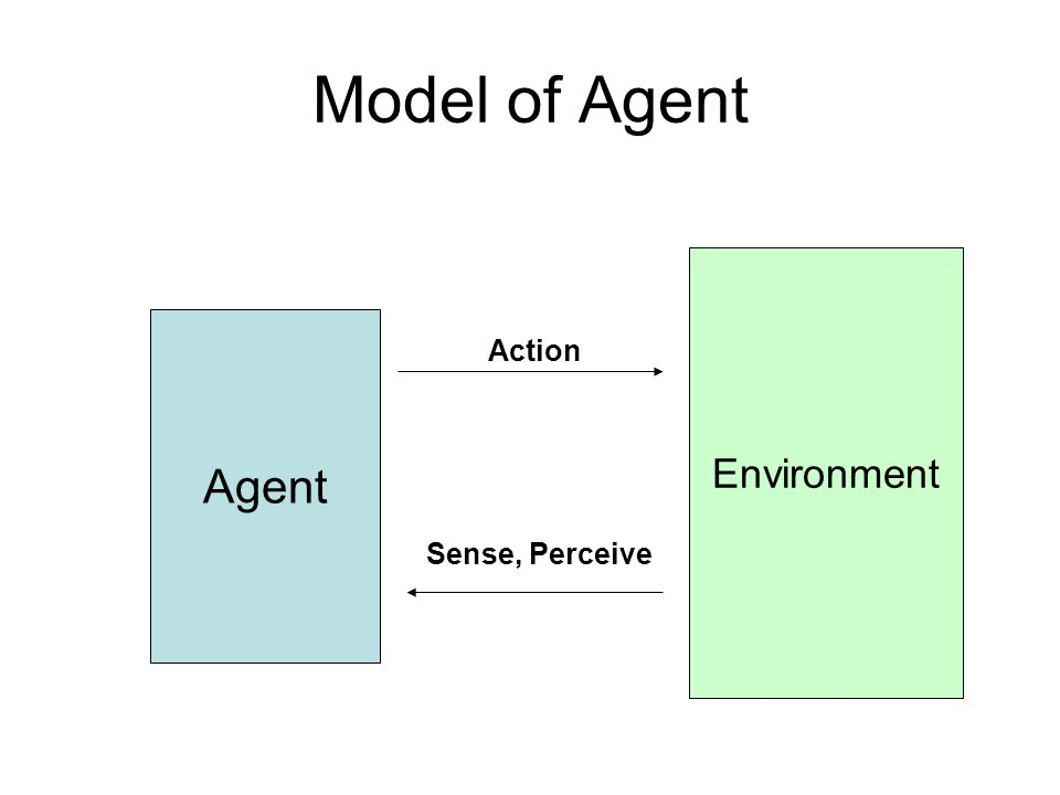 Agent Environment Action Sense, Perceive Model of Agent