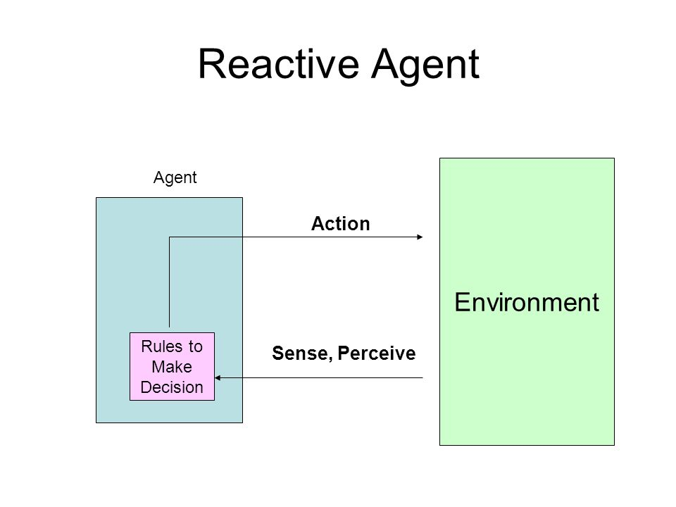 Reactive Agent Environment Action Sense, Perceive Rules to Make Decision Agent