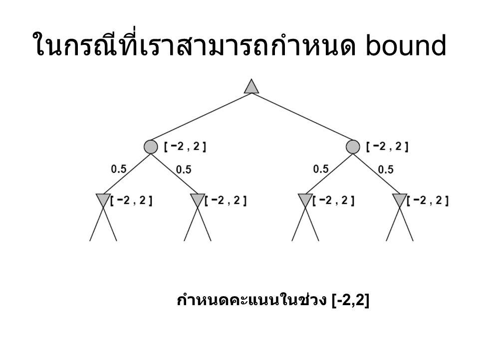 กำหนดคะแนนในช่วง [-2,2] ในกรณีที่เราสามารถกำหนด bound