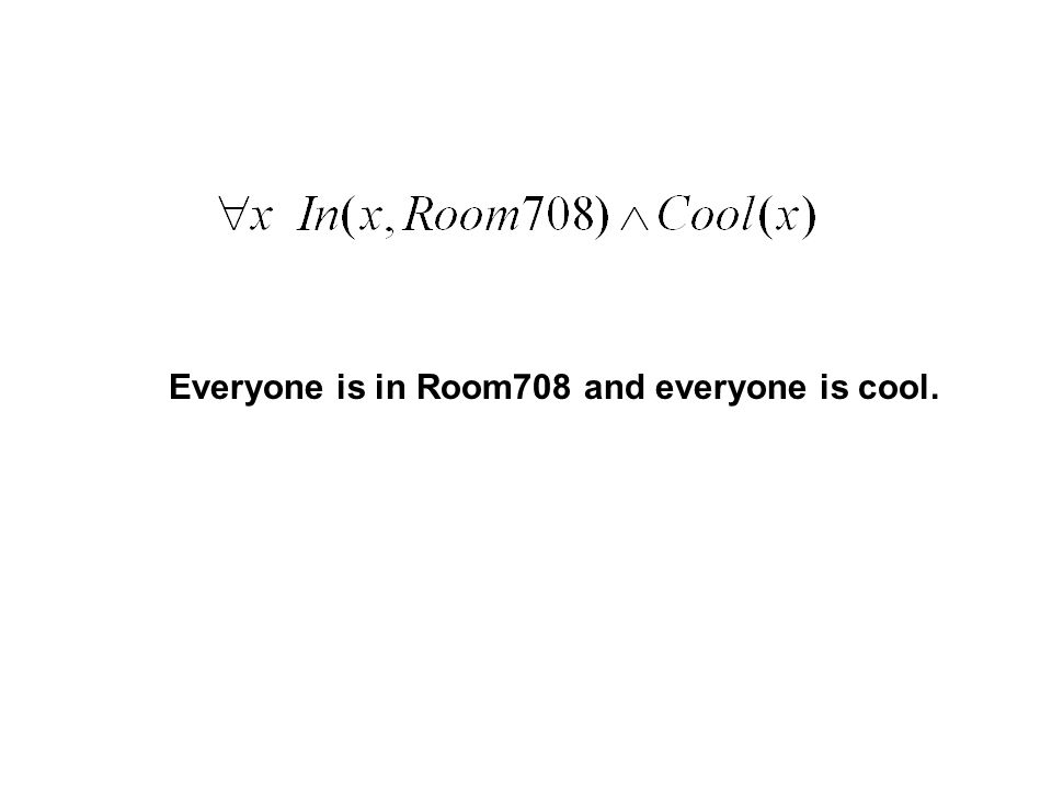 Everyone is in Room708 and everyone is cool.