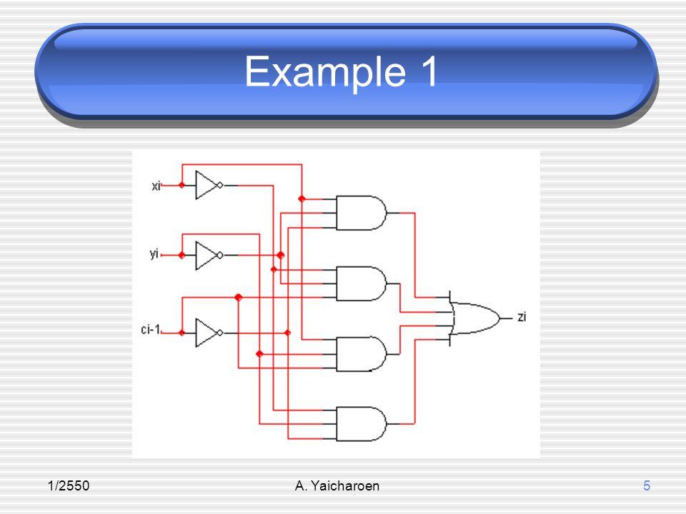 1/2550A. Yaicharoen5 Example 1