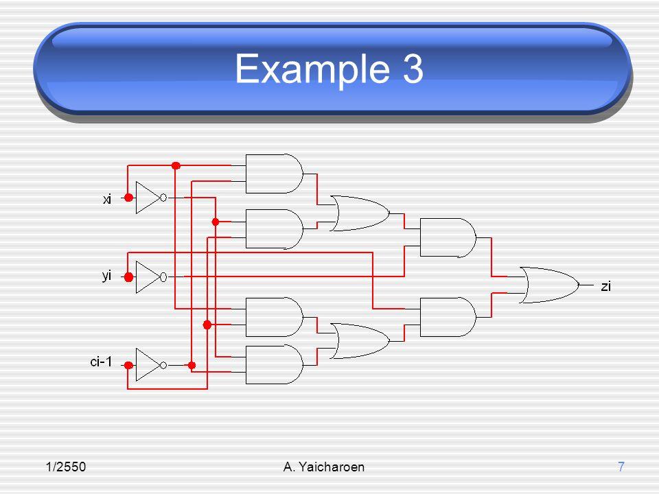 1/2550A.Yaicharoen8 การสังเคราะห์วงจรลอจิก 1.