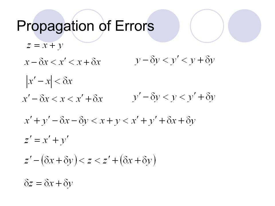 Propagation of Errors
