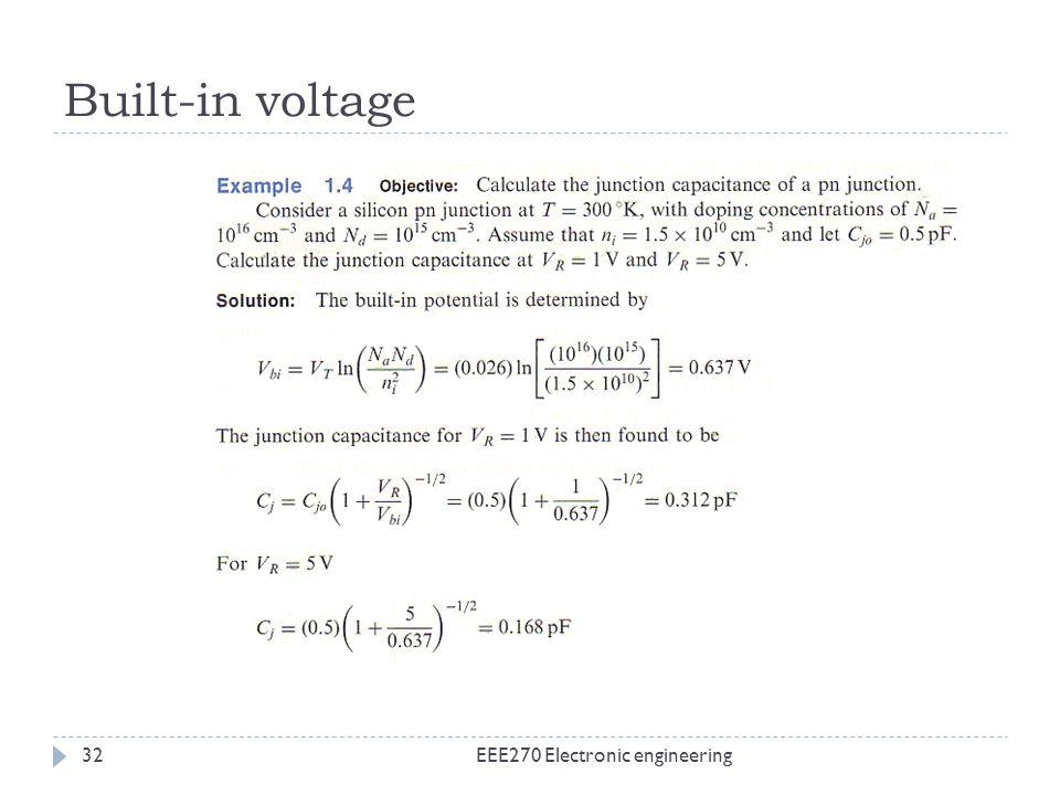 Built-in voltage EEE270 Electronic engineering32