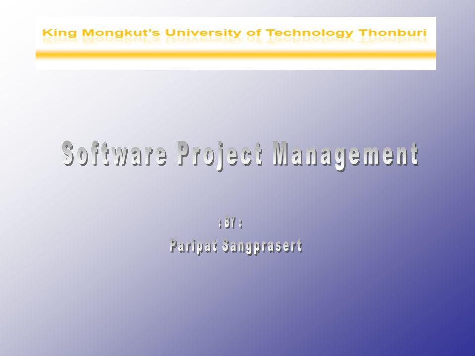 2 หัวข้อการบรรยาย ประเภทของโครงการ ปัจจัยความสำเร็จของโครงการ โครงสร้างองค์กร บทบาทและหน้าที่ ประเภทของSoftware 4 ปัจจัยหลักของโครงการ 7 ระยะในโครงการSoftware 9 กลุ่มความรู้ที่นักบริหารโครงการต้องมี เครื่องมือและเทคนิคในการบริหารโครงการ การป้องกันข้อผิดพลาดในโครงการ