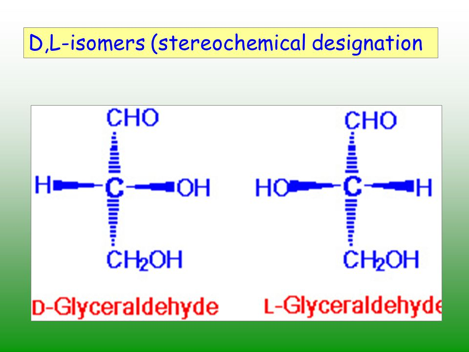D,L-isomers (stereochemical designation