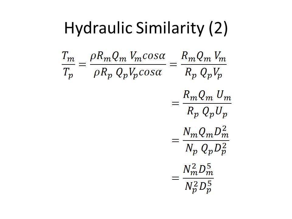 Hydraulic Similarity power relationship