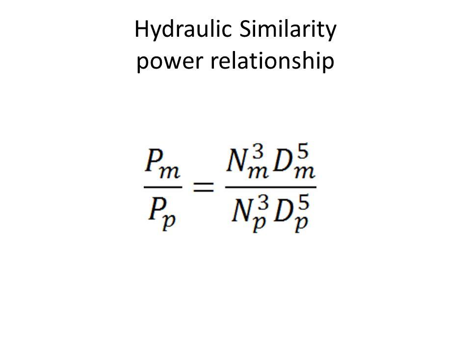 Hydraulic Similarity Head relationship