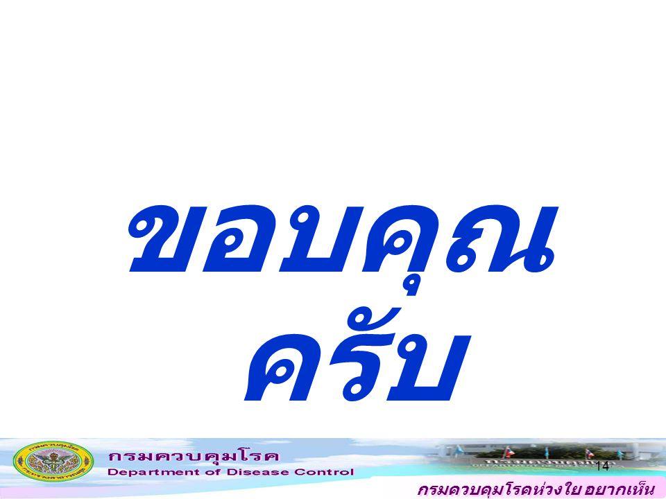 กรมควบคุมโรคห่วงใย อยากเห็น คนไทยสุขภาพดี 14 ขอบคุณ ครับ