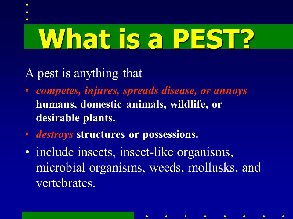 What is a PESTICIDEs.