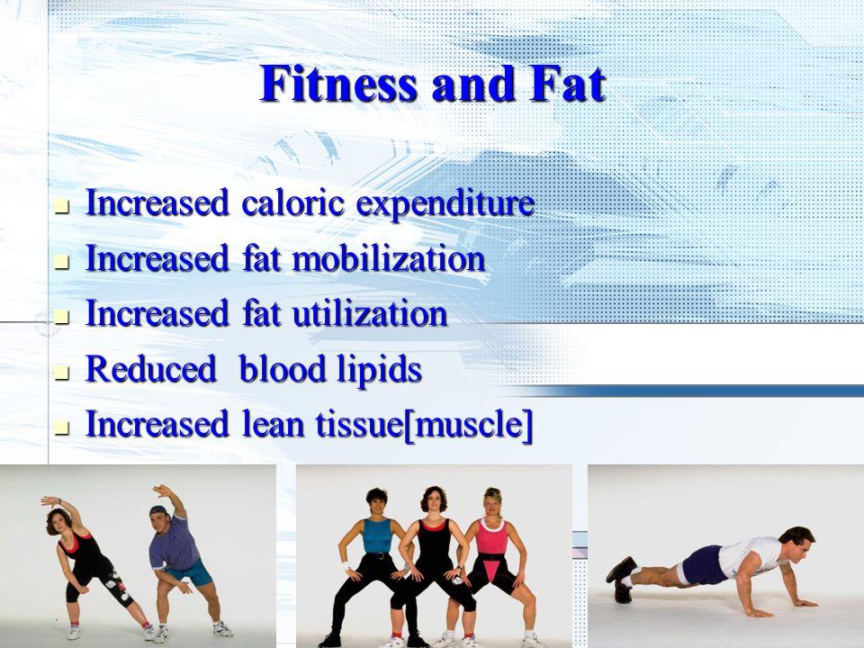 Increased caloric expenditure Increased caloric expenditure Increased fat mobilization Increased fat mobilization Increased fat utilization Increased