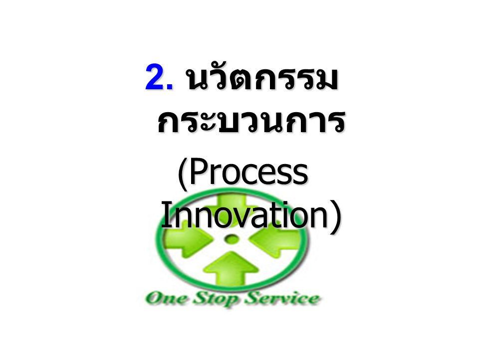 2. นวัตกรรม กระบวนการ (Process Innovation)