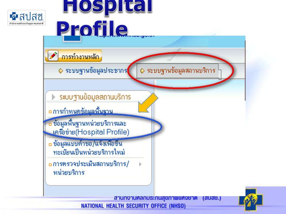 ผลการบันทึกข้อมูล Hospital Profile ณ เมษายน 2556 29