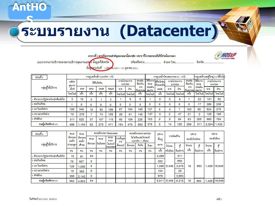LOGO ระบบรายงาน (Datacenter) AntHO S