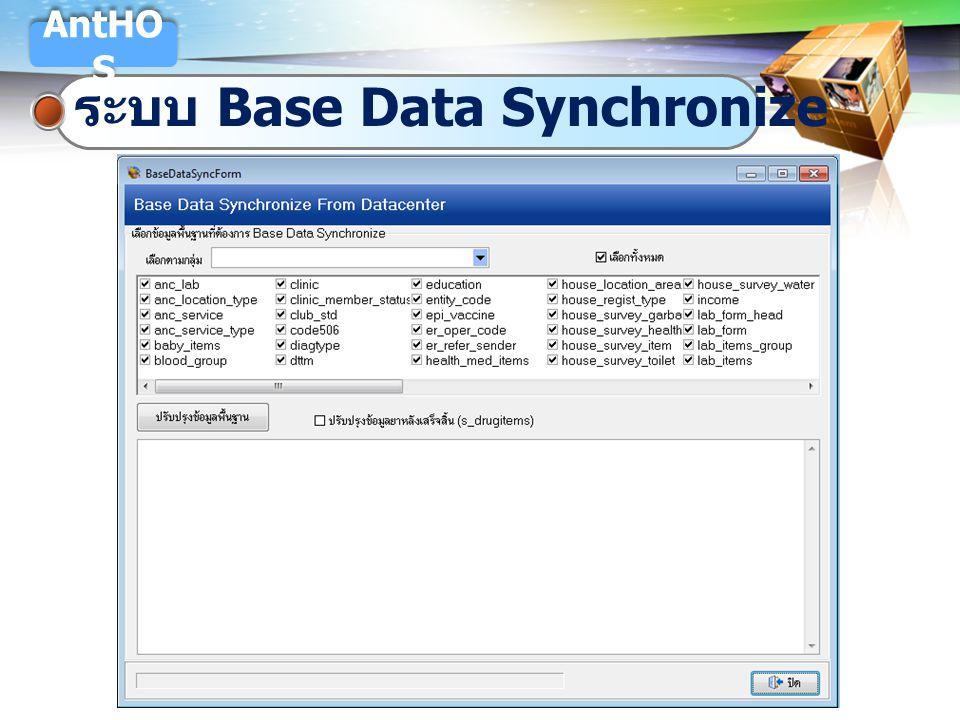 LOGO ระบบ Base Data Synchronize AntHO S
