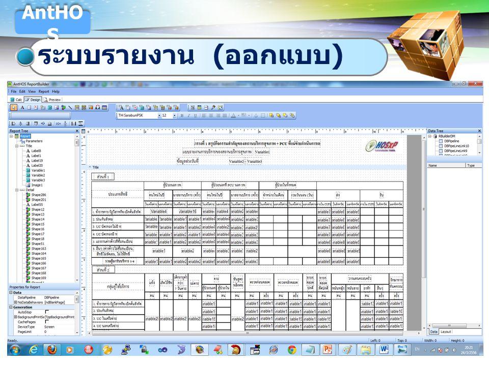 LOGO ระบบรายงาน ( ออกแบบ ) AntHO S