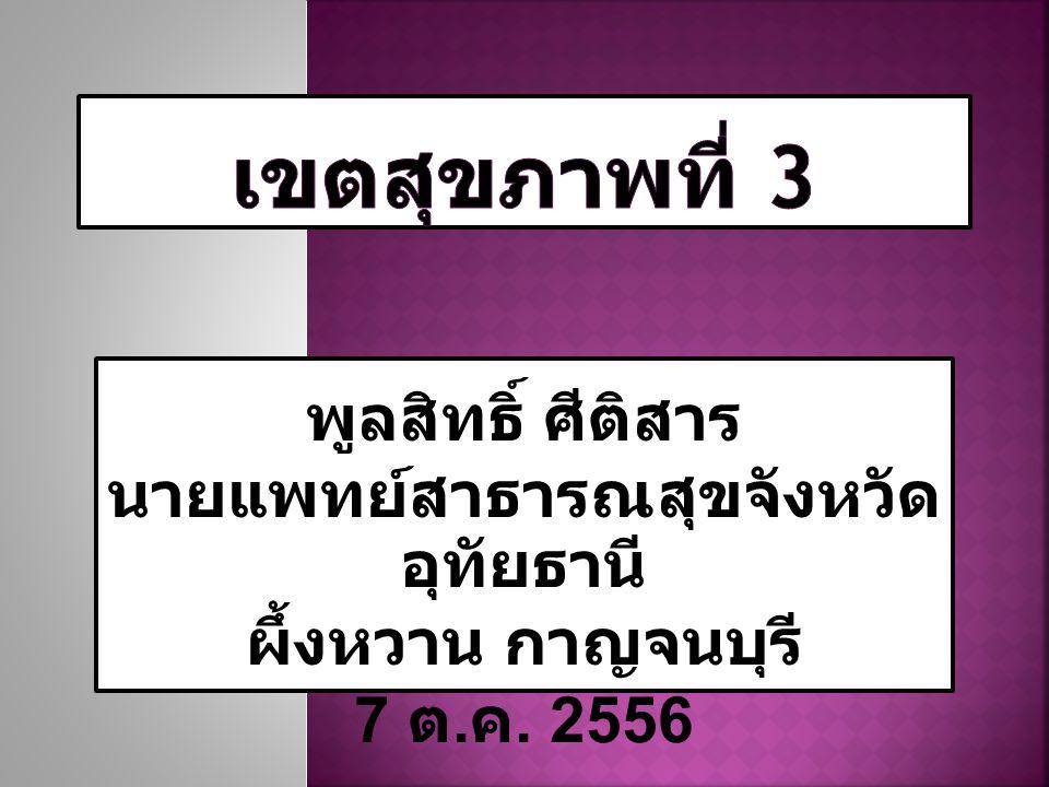 พูลสิทธิ์ ศีติสาร นายแพทย์สาธารณสุขจังหวัด อุทัยธานี ผึ้งหวาน กาญจนบุรี 7 ต. ค. 2556